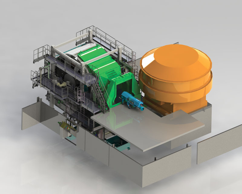 New Centrifuge With In Line Motors Centrifuge And Forming Chamber